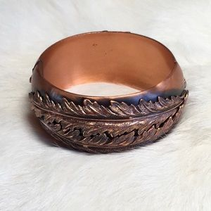 Whiting Davis Hinged Copper Cuff Bracelet